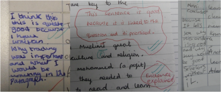Meaningful, manageable and motivating': marking and feedback.